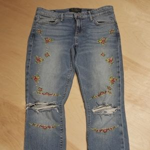 Lucky Brand embroidered Ava Skinny, size 4